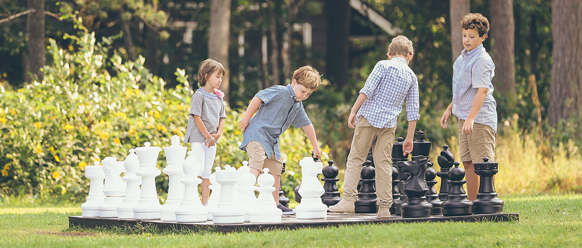 Kids Playing BIG Chess